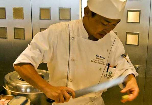 Nobu chef on Crystal Serenity