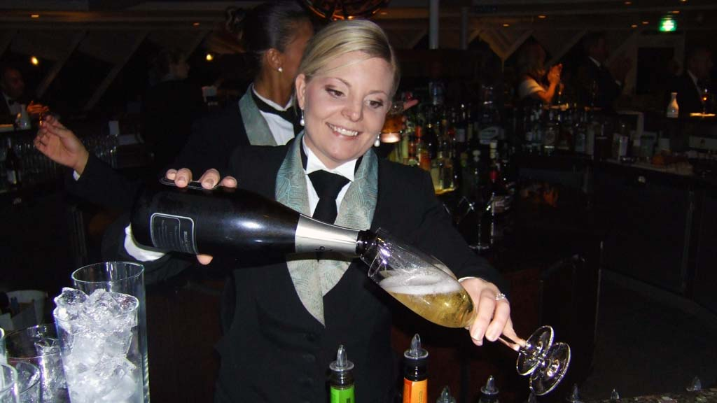 Bartender on Crystal Serenity