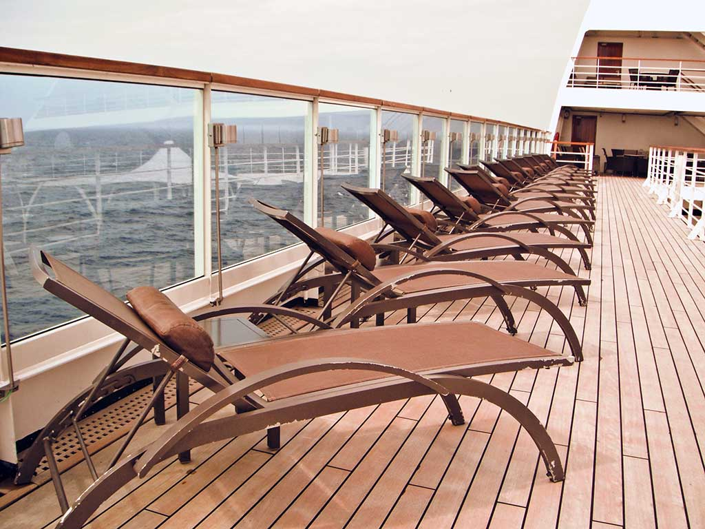 Deck of Seabourn Sojourn