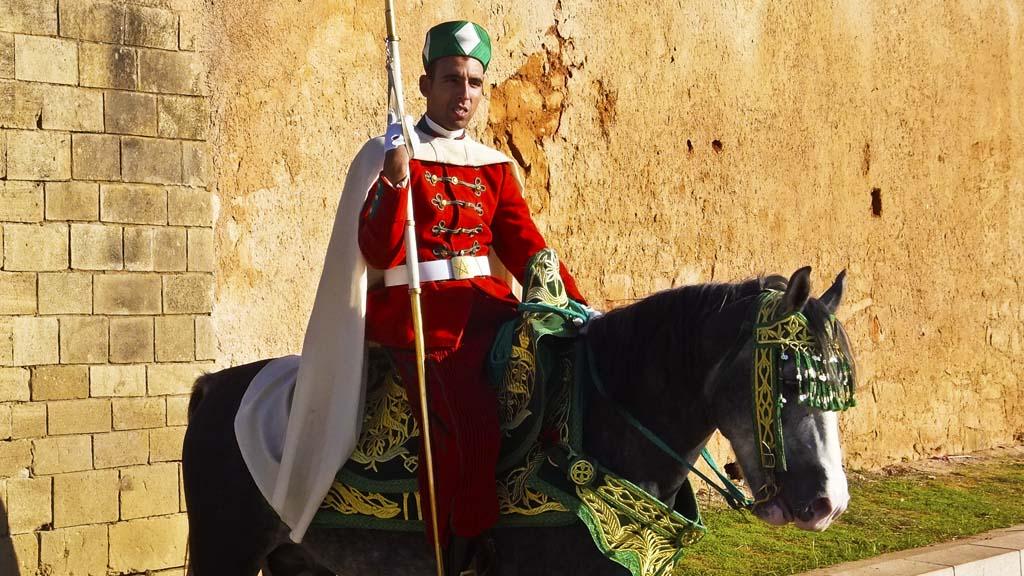 Horse guard in Rabat Morocco