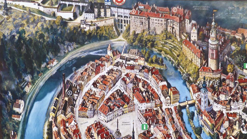 Cesky Krumlov Aerial Map The Cruisington Times