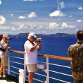 Viewing Caribbean from cruise ship