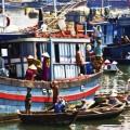 River ships on Mekong