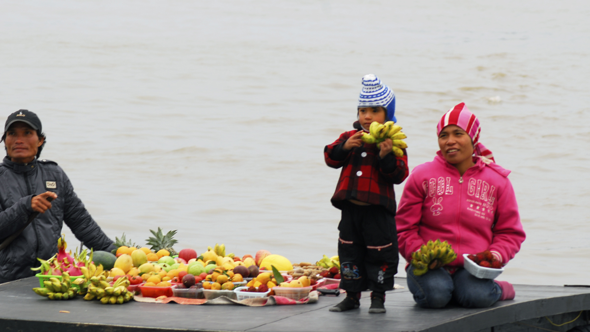 Fruit seller in Vietnam